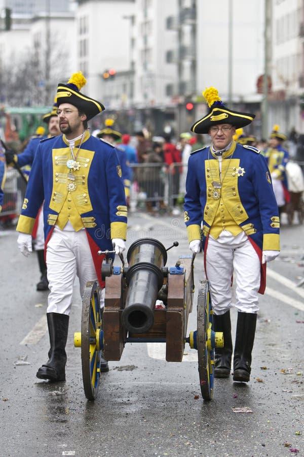 Desfile de la calle del carnaval, Francfort, febrero de 2010 fotografía de archivo