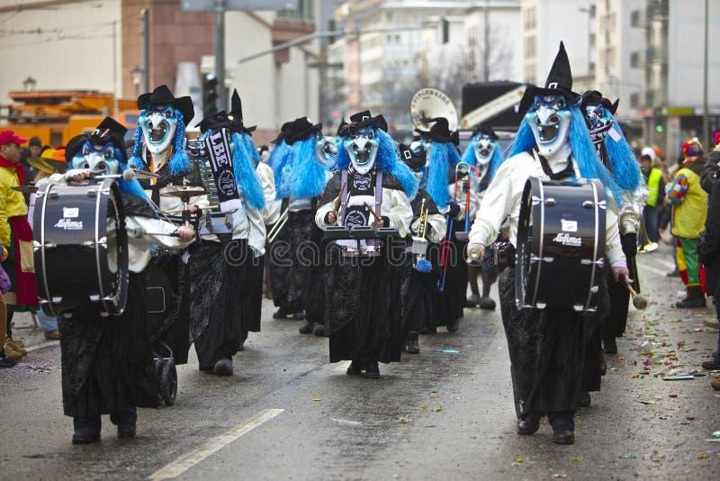Desfile de la calle del carnaval, Francfort, febrero de 2010 foto de archivo