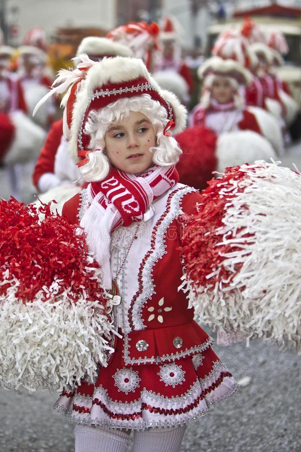 Desfile de la calle del carnaval - Francfort, febrero de 2010 fotografía de archivo libre de regalías
