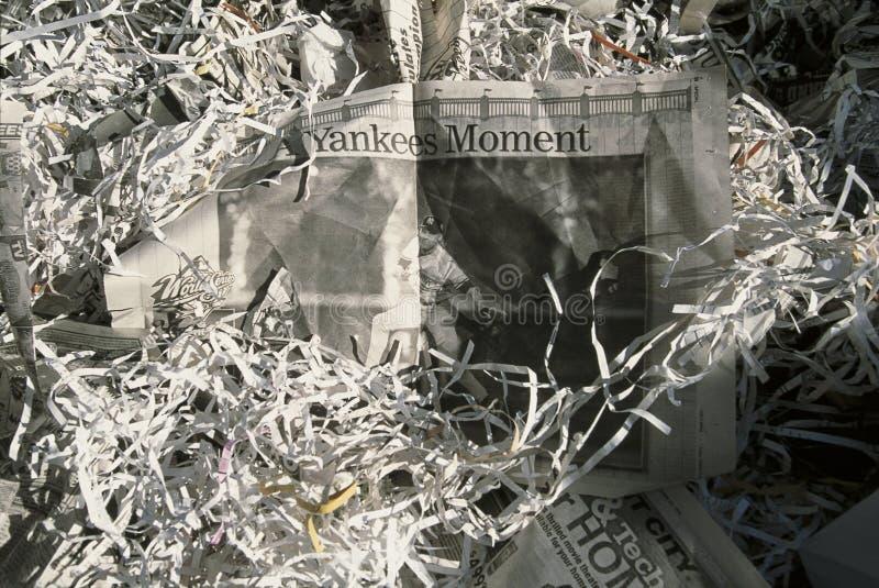 Desfile de la cinta de teletipo para los yanquis 1998 de Nueva York imagen de archivo