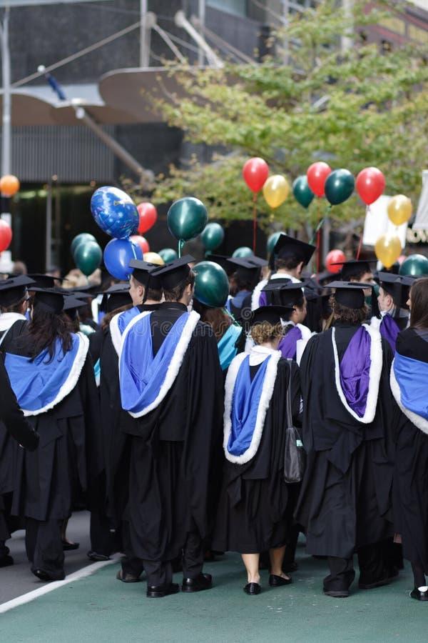 Desfile de la graduación foto de archivo libre de regalías