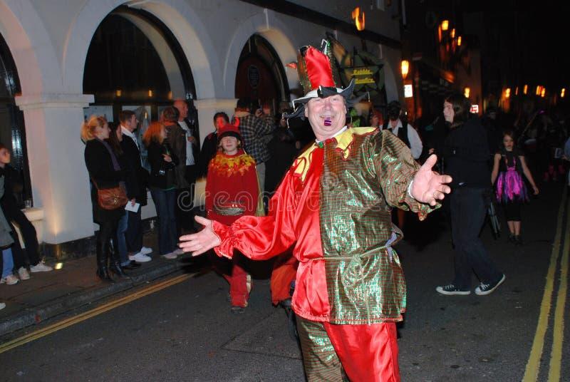 Desfile de la hoguera, Hastings foto de archivo