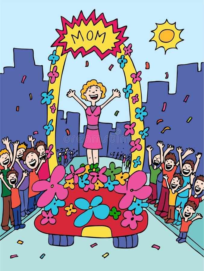 Desfile de la madre stock de ilustración