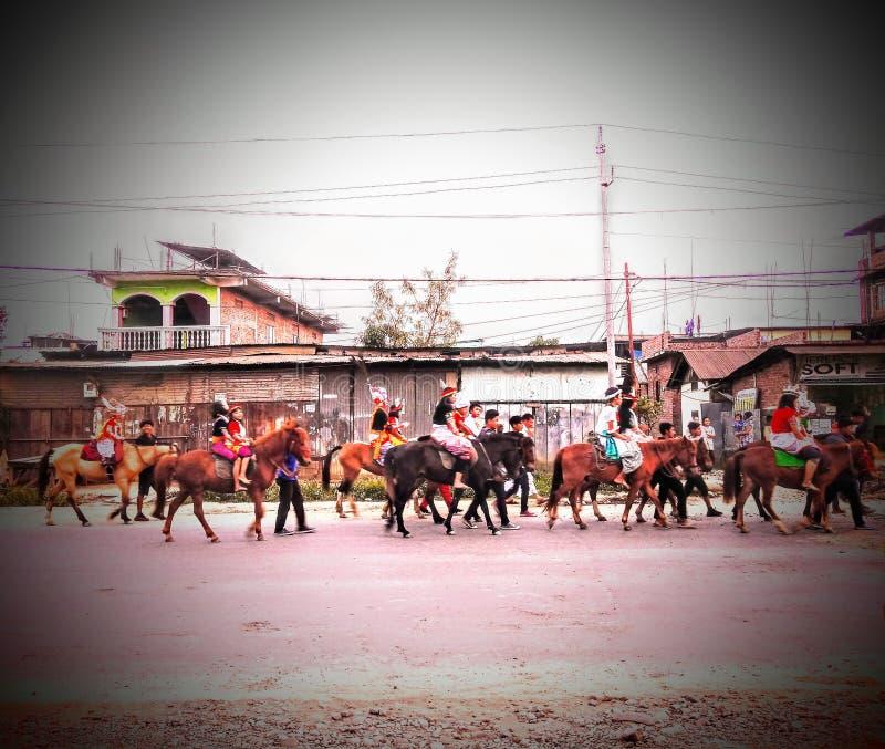 Desfile de los caballos imagenes de archivo