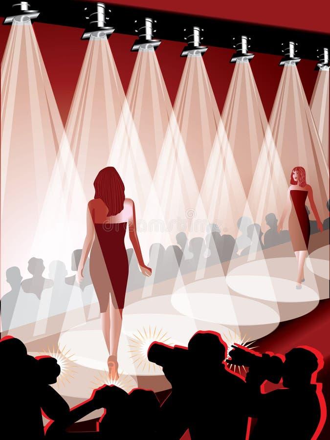 Desfile de moda ilustração do vetor
