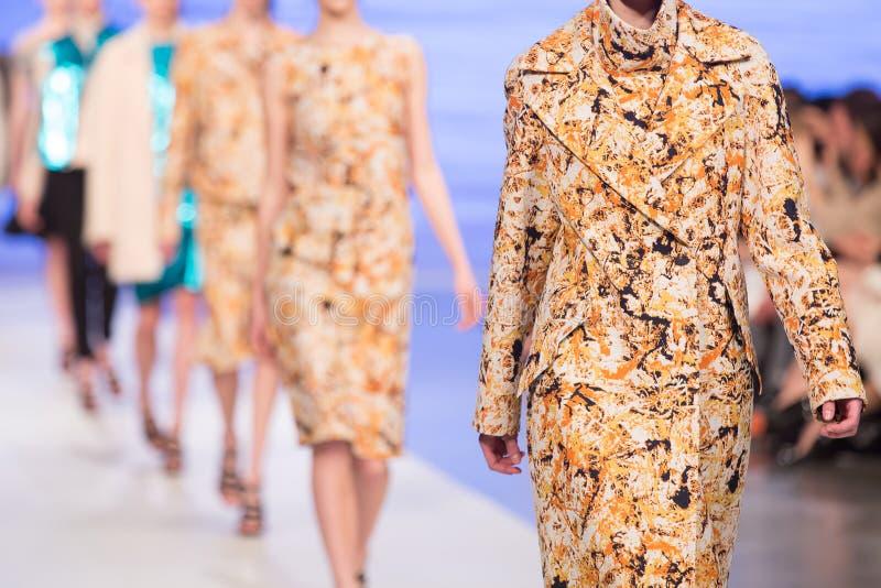 Desfile de moda imagem de stock