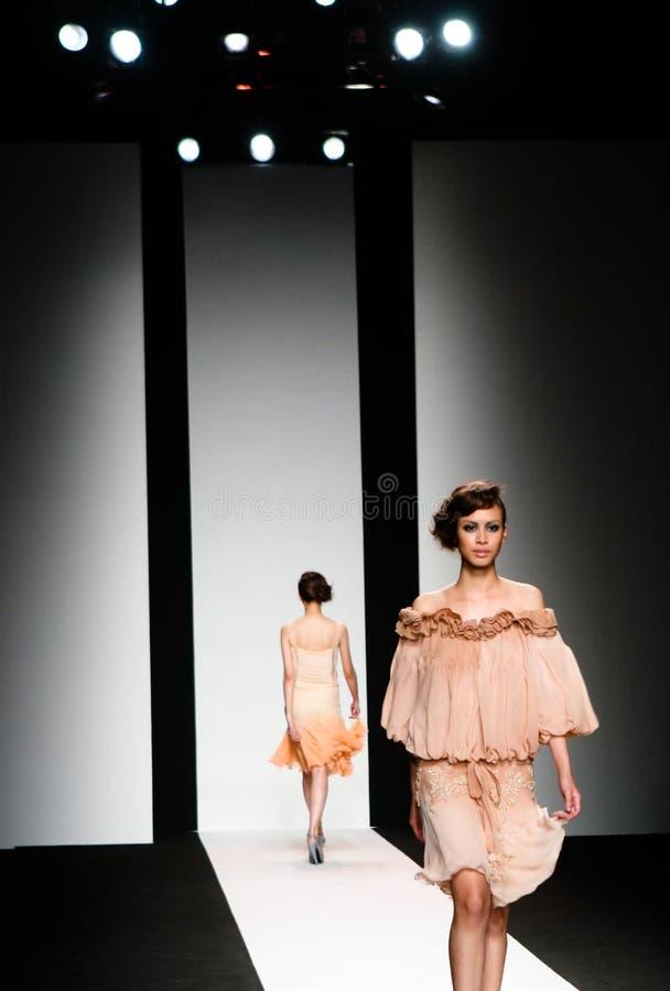 Desfile de moda fotografia de stock