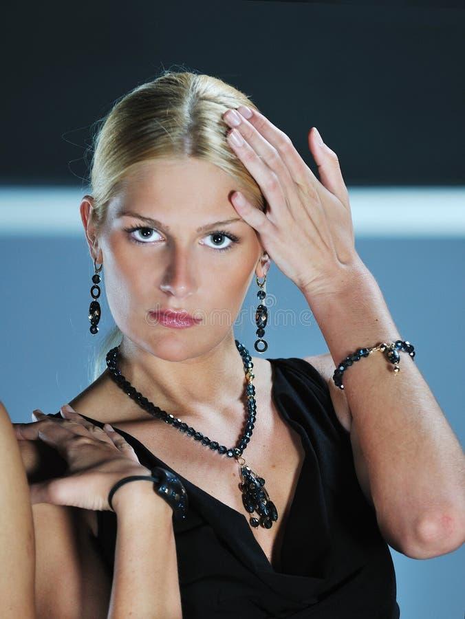 Desfile de moda da mulher imagens de stock royalty free