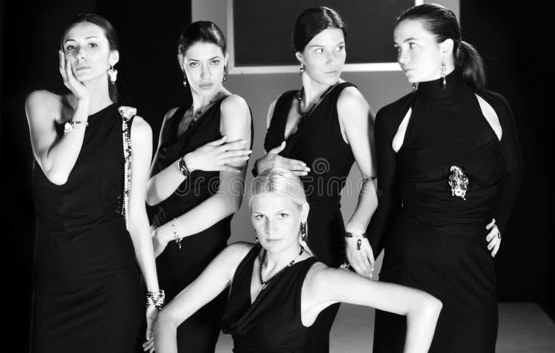 Desfile de moda da mulher fotos de stock