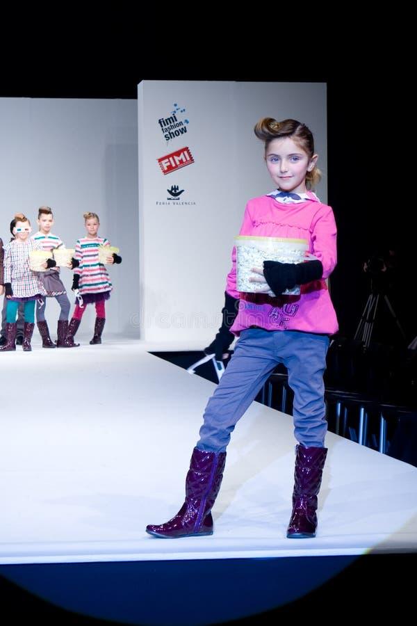 Desfile de moda de FIMI fotografia de stock royalty free