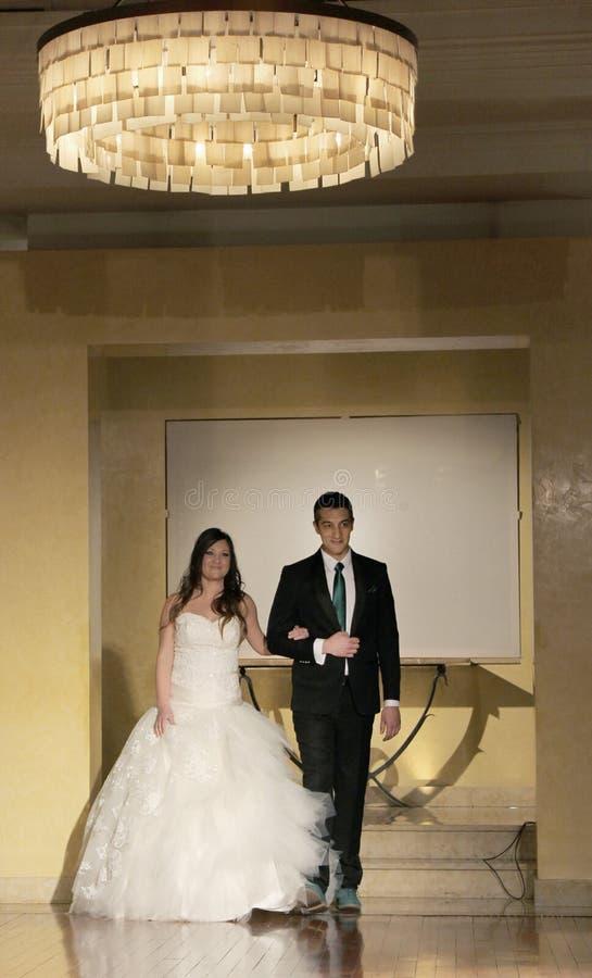 Desfile de moda de la boda foto de archivo libre de regalías