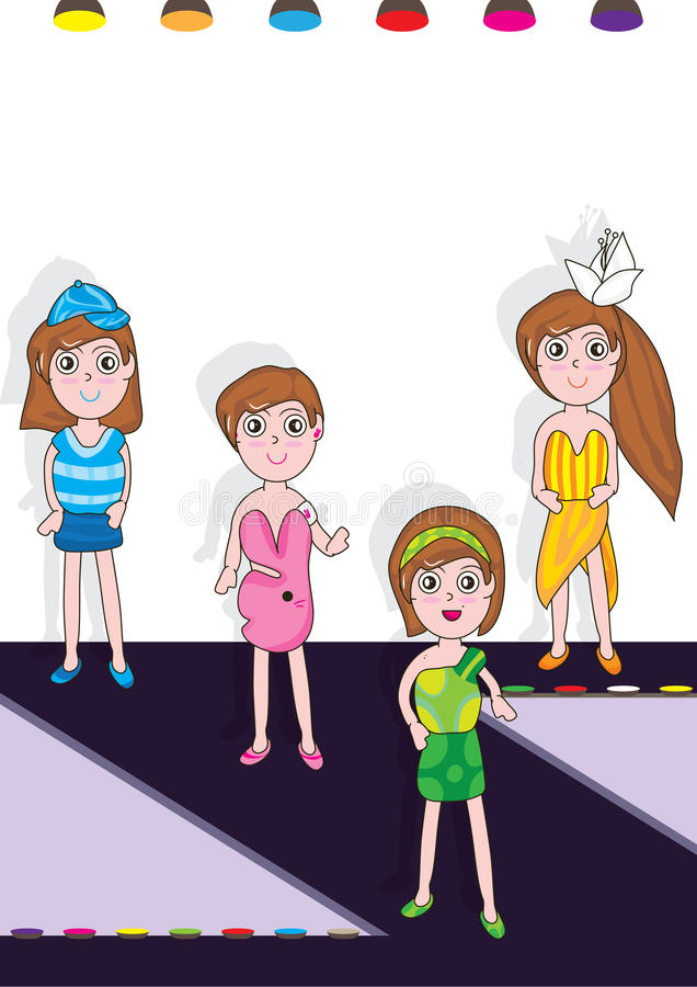 Desfile de moda Z Stage_eps ilustración del vector
