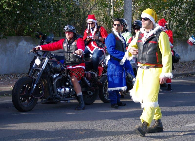 Desfile de Navidad de los motoristas imágenes de archivo libres de regalías