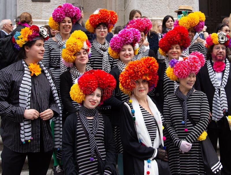 Desfile de Pascua y festival del capo en New York City el 21 de abril de 2019 fotografía de archivo libre de regalías