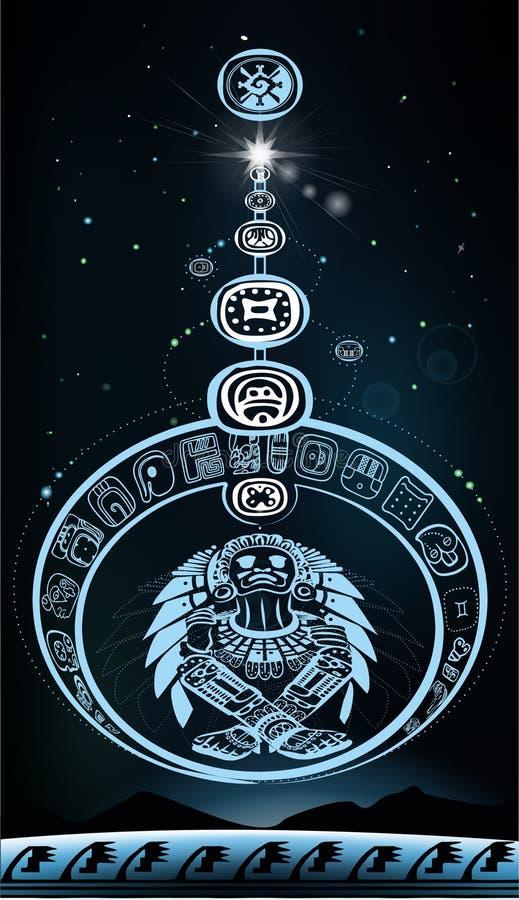 Desfile de planetas con dios indio libre illustration