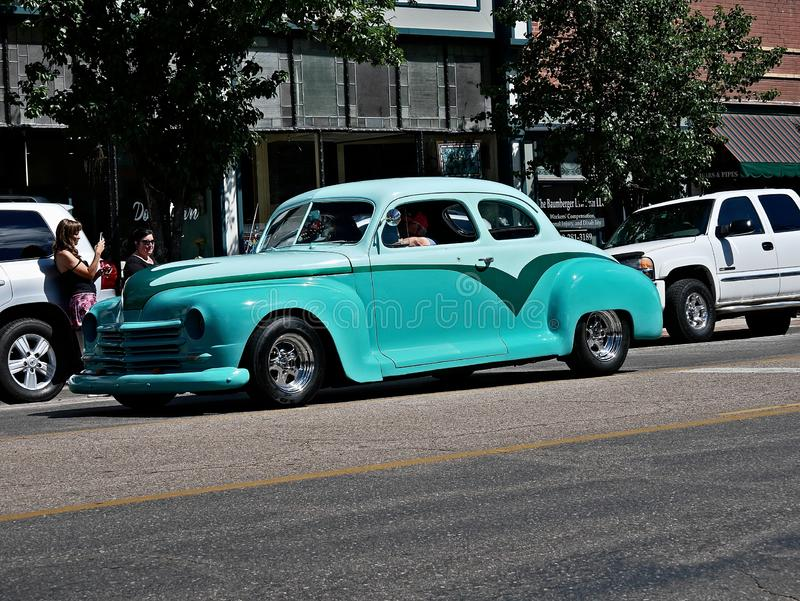 Desfile 2019 de Rocky Mountain Street Rod Nationals imagenes de archivo