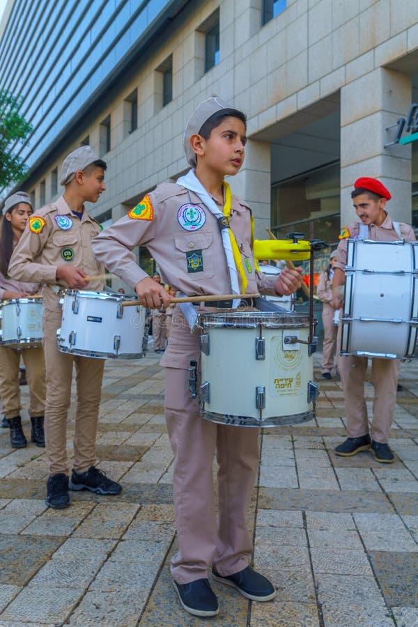 Desfile de sábado santo, parte de la celebración ortodoxa de Pascua en Haifa imagen de archivo libre de regalías