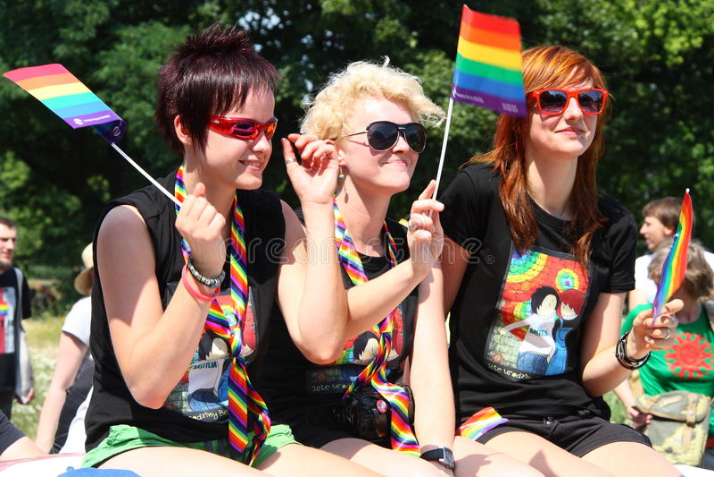 Desfile del arco iris foto de archivo
