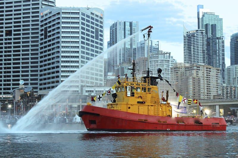 Desfile del barco en día de Sydney, Australia fotografía de archivo libre de regalías