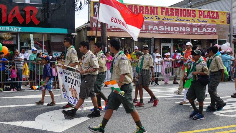 desfile del día de la India de 2015 publicaciones anuales en Edison, New Jersey foto de archivo