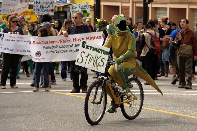 Desfile del día de tierra de Vancouver,   imágenes de archivo libres de regalías
