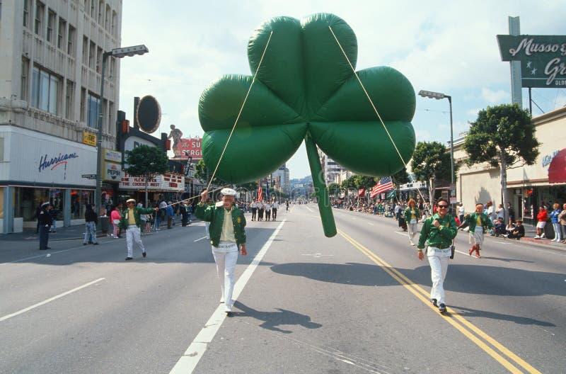 Desfile del día del St. Patrick de Los Ángeles imágenes de archivo libres de regalías