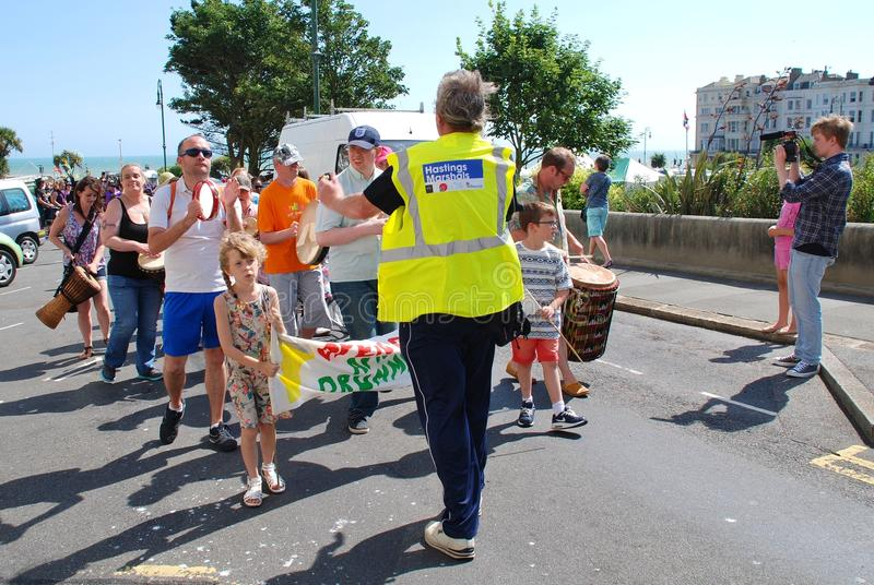 Desfile del festival de StLeonards imagen de archivo