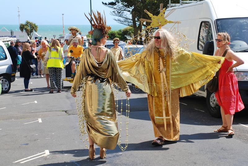 Desfile del festival de StLeonards, Sussex imagen de archivo libre de regalías