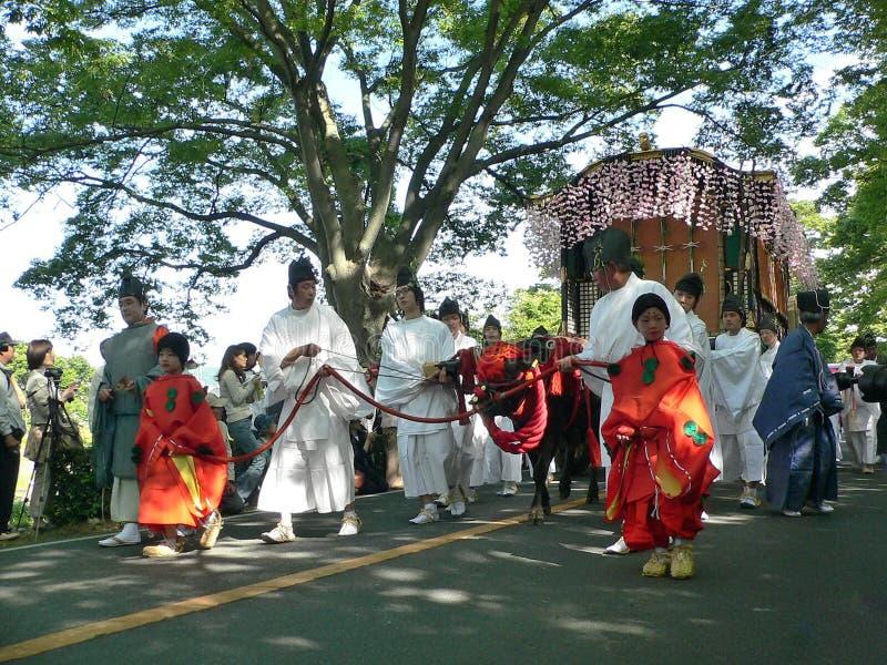 Desfile del festival tradicional de Aoi, Kyoto Japón imágenes de archivo libres de regalías