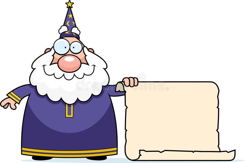 Desfile del mago stock de ilustración