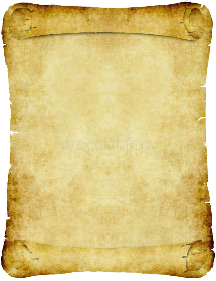 Desfile del papel de pergamino de la vendimia libre illustration