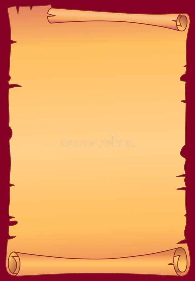 Desfile del pergamino stock de ilustración