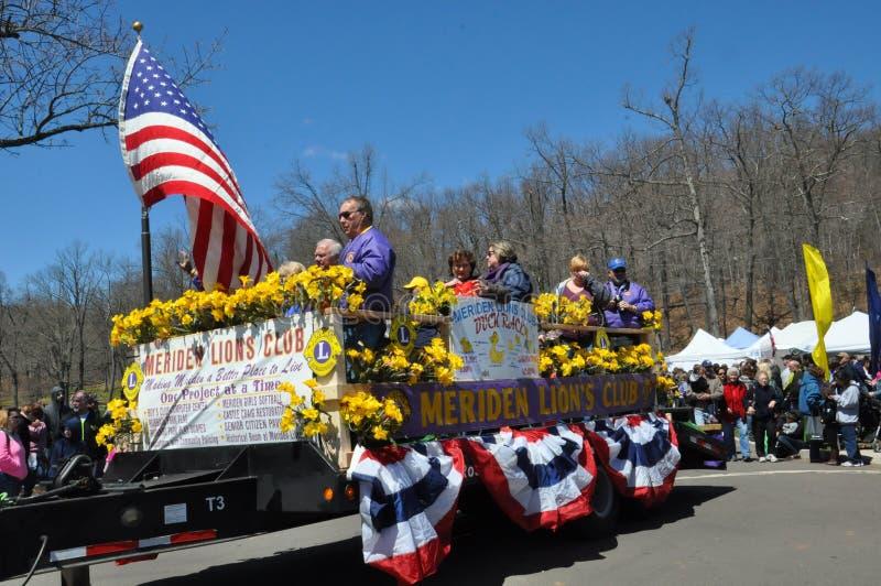 Desfile en el 37.o festival anual del narciso en Meriden, Connecticut foto de archivo libre de regalías