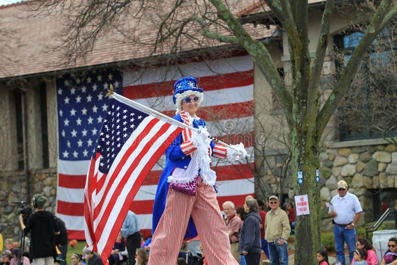 Desfile en Lexington, mA del día de los patriotas el 15 de abril fotos de archivo libres de regalías