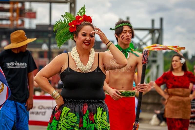 Desfile floral magnífico 2019 de Portland foto de archivo libre de regalías