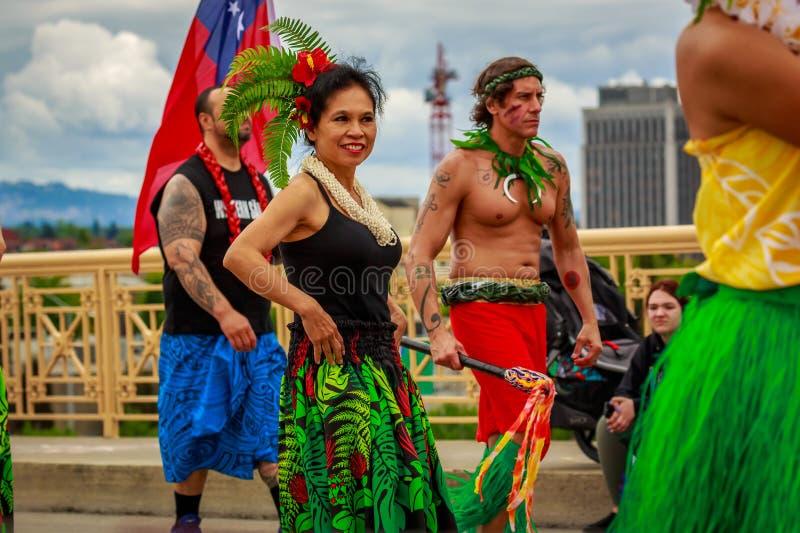 Desfile floral magnífico 2019 de Portland imágenes de archivo libres de regalías