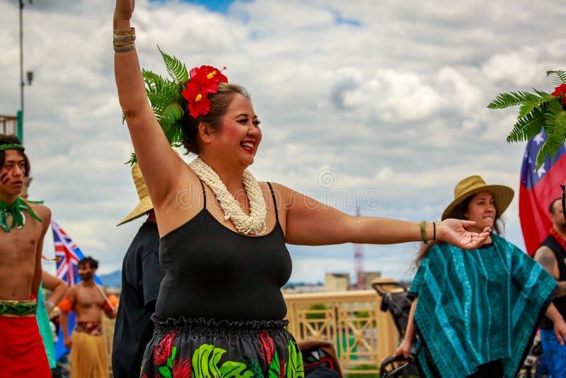 Desfile floral magnífico 2019 de Portland fotografía de archivo