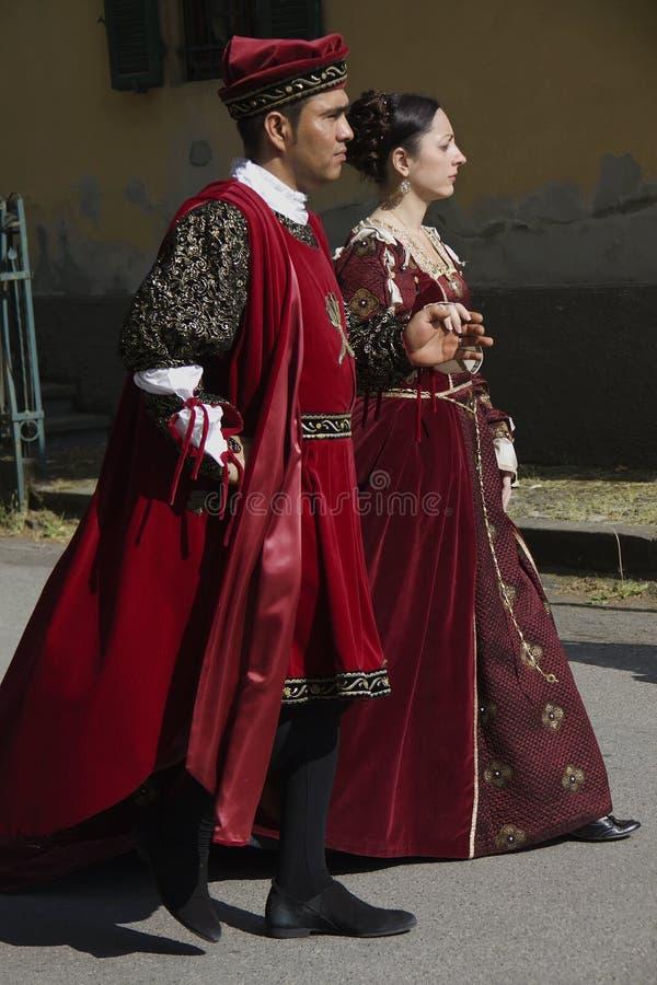 Desfile histórico en Parma imagen de archivo