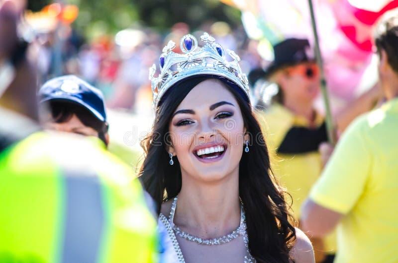Desfile lento del festival de Srta. South Africa 2017 foto de archivo