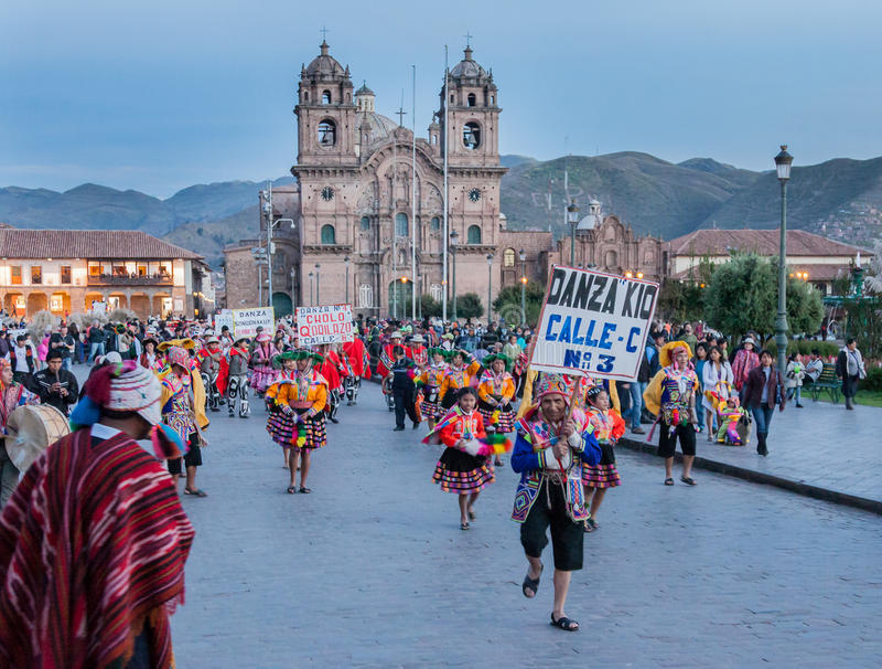 Desfile Lima Peru de la semana santa fotos de archivo