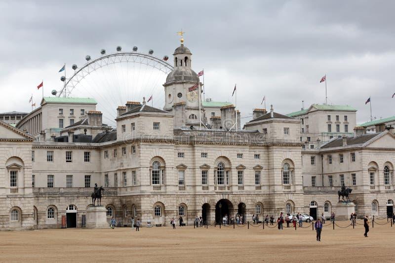 Desfile Londres Inglaterra de los protectores de caballo imagen de archivo libre de regalías