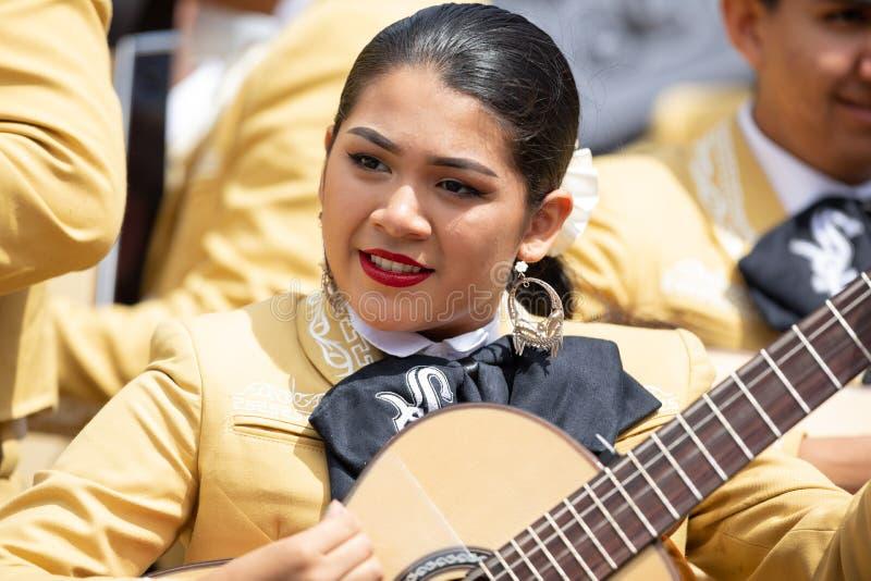 Desfile mexicano de la independencia fotos de archivo libres de regalías