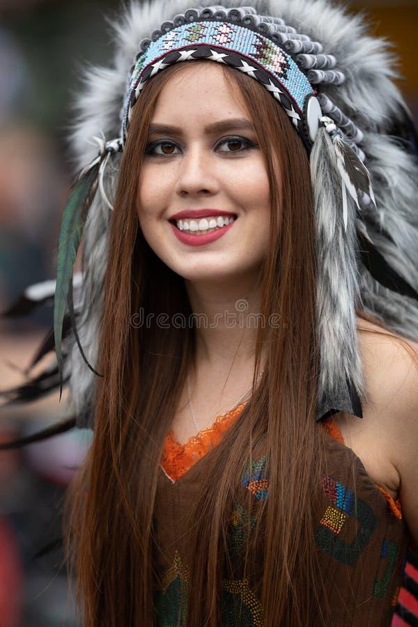Desfile mexicano de la independencia imagenes de archivo