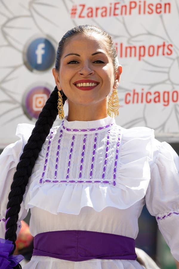 Desfile mexicano 2018 del Día de la Independencia de Pilsen foto de archivo
