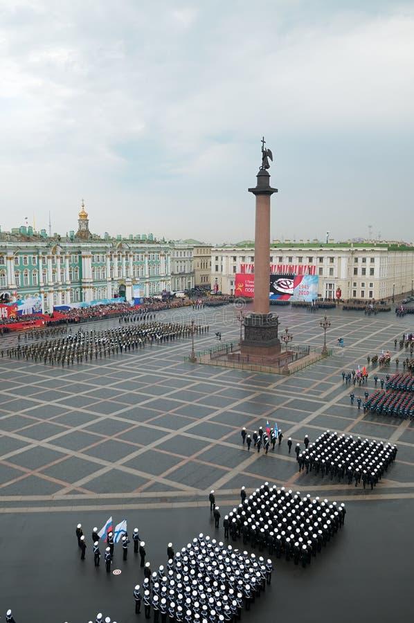 Desfile militar de la victoria. imagen de archivo