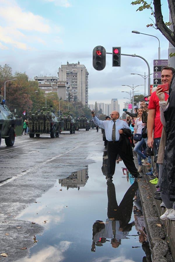 Desfile militar en BELGRADO fotos de archivo libres de regalías