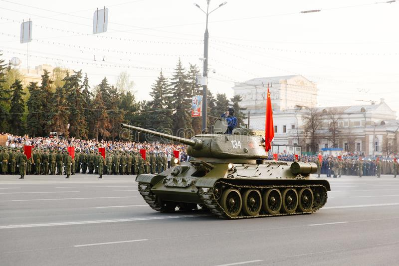 Desfile militar en Cheliábinsk imagen de archivo libre de regalías
