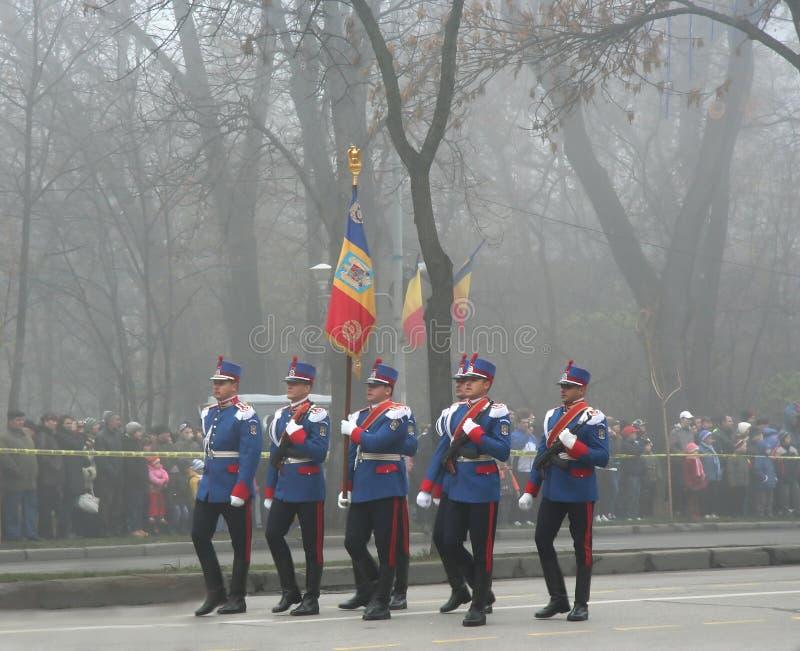 Desfile militar - oficiales de la infantería imagen de archivo libre de regalías