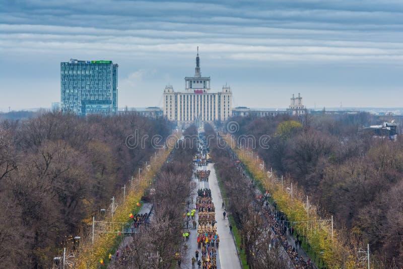 Desfile militar rumano fotos de archivo