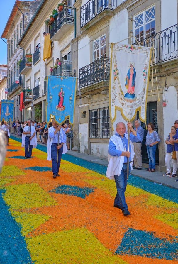 Desfile portugués religioso foto de archivo libre de regalías